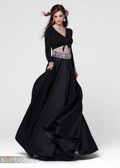 مدل لباس مجلسی بلند مشکی11