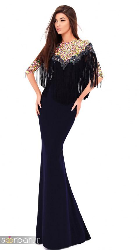 مدل لباس مجلسی بلند مشکی13