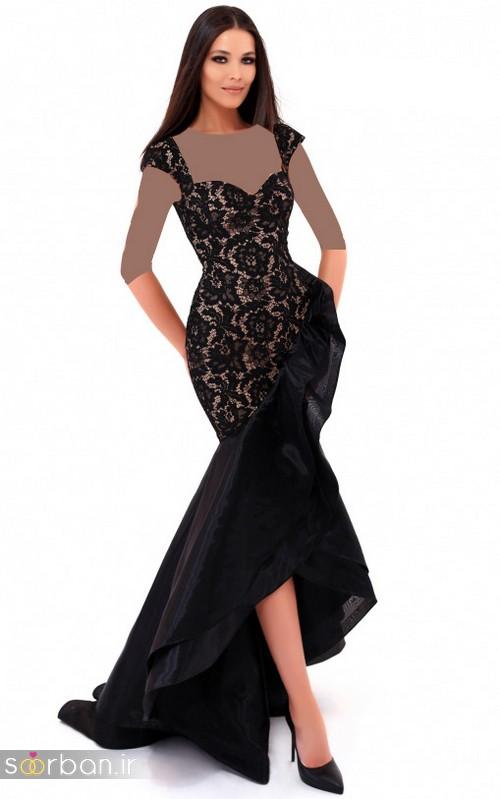 مدل لباس مجلسی بلند مشکی15