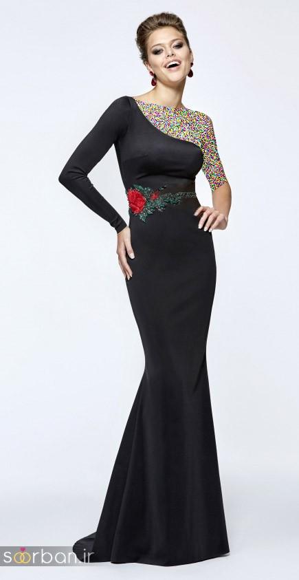 مدل لباس مجلسی بلند مشکی18