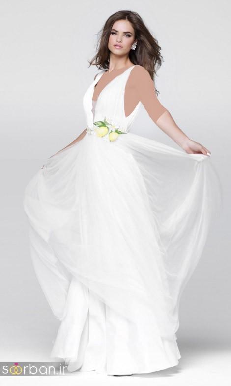 جدیدترین مدل های لباس نامزدی کوتاه حریر و دانتل-5
