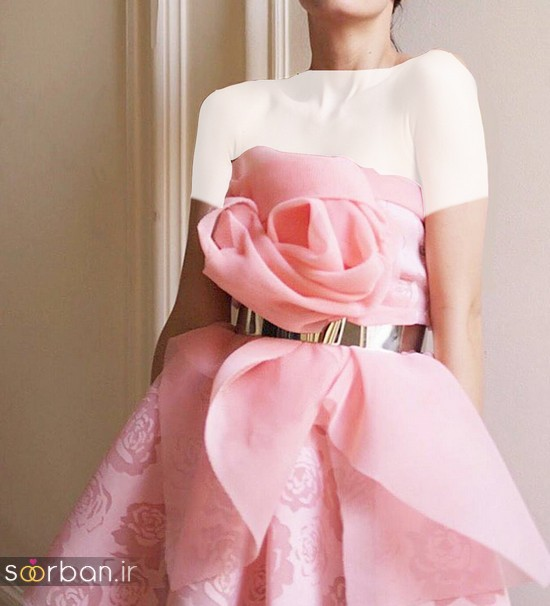 جدیدترین مدل های لباس نامزدی کوتاه حریر و دانتل-24