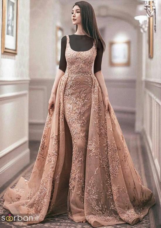 جدیدترین مدل های لباس نامزدی کوتاه حریر و دانتل-27