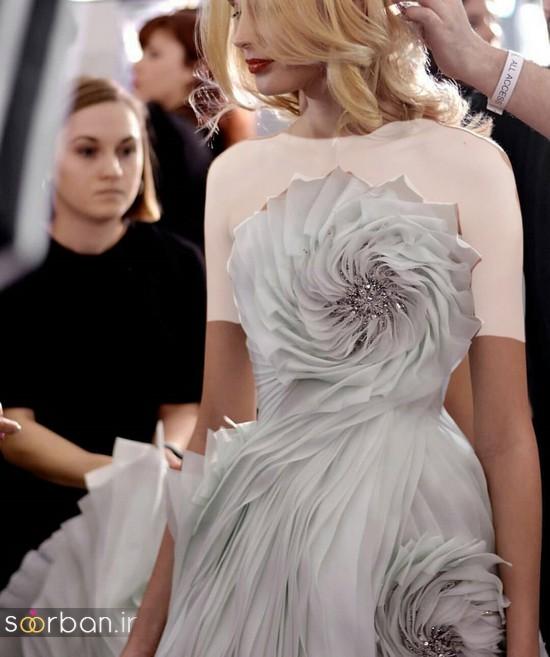 جدیدترین مدل های لباس نامزدی کوتاه حریر و دانتل-28