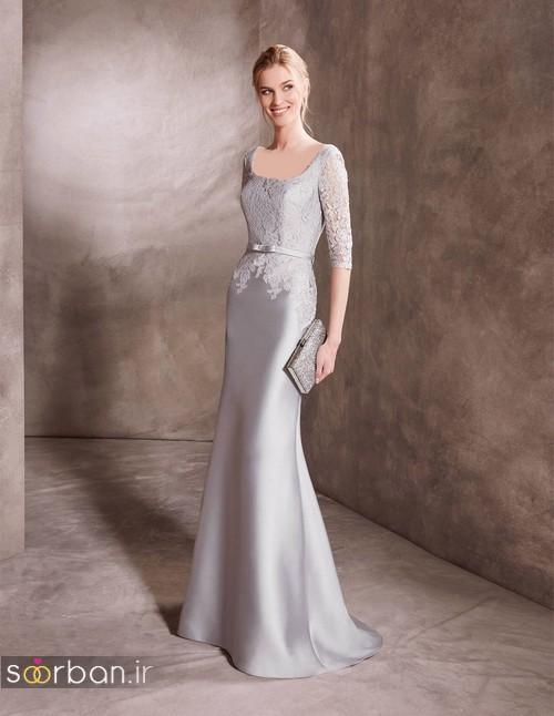 مدل لباس نامزدی نقره ای شیک و جدید 2018