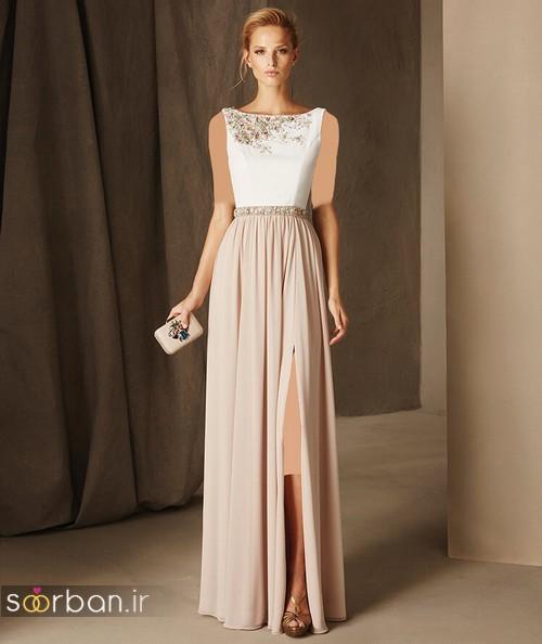لباس مجلسی کرمی و سفید