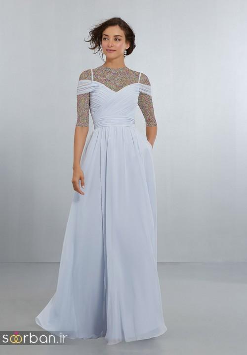 لباس زنانه ساقدوش عروس بلند1