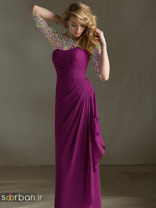 لباس زنانه ساقدوش عروس بلند4