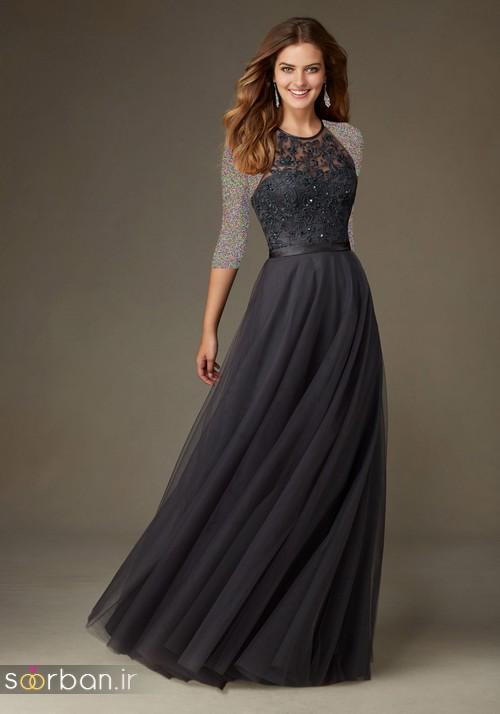 لباس زنانه ساقدوش عروس بلند10