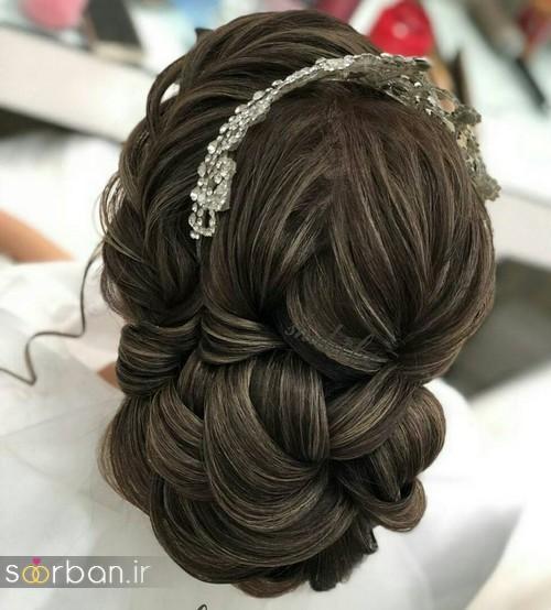 مدل شینیون موی باز و بسته عروس 2018 شیک 6