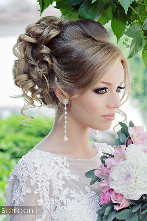 مدل آرایش میکاپ و مدل مو عروس جدید شیک و بسیار زیبا