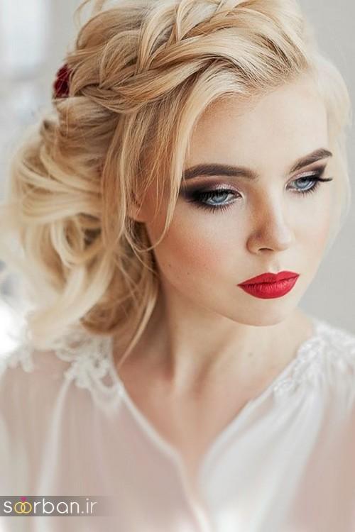 مدل آرایش میکاپ و مدل مو عروس جدید شیک جدید