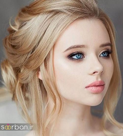 عکس مدل آرایش لایت اروپایی و مدل مو ساده