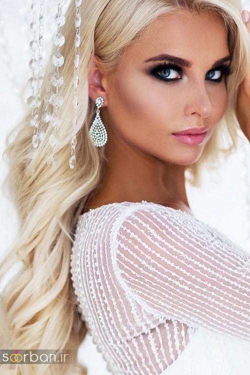 مدل آرایش میکاپ و مدل مو عروس جدید شیک و جدید