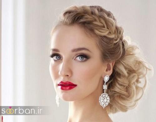مدل آرایش میکاپ ومدل آرایش میکاپ و مدل مو بلوند عروس جدید 2017