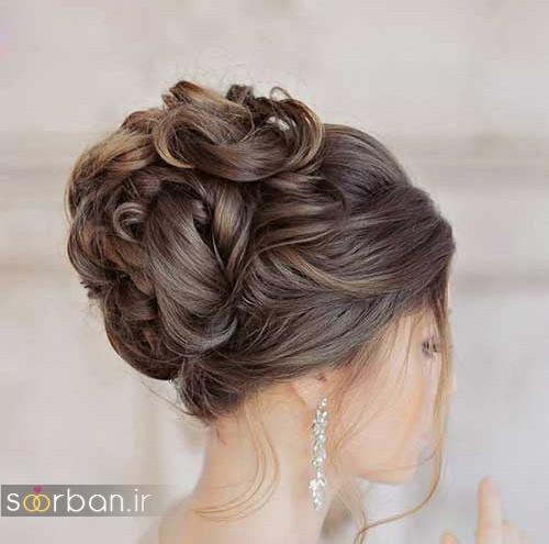شینیون عروس زیبا و جدید شیک و جدید
