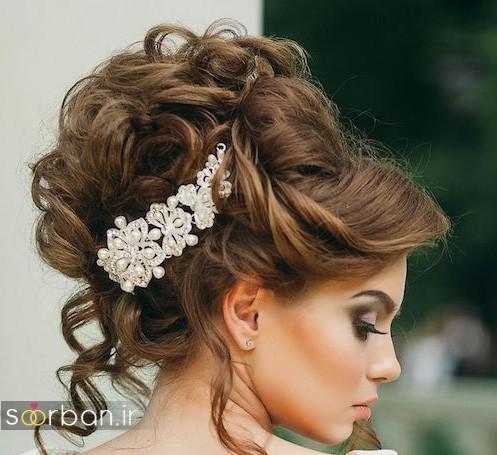 شینیون عروس زیبا و جدید شیک و مدرن 2017