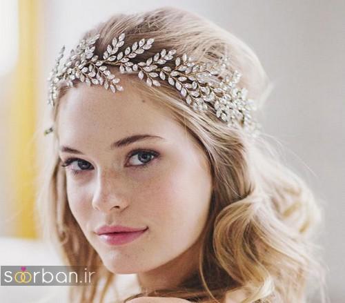مدل مو عروس زیبا 2017 با ریسه های تزیینی خوشگل