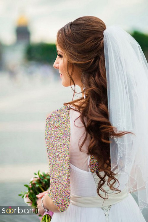 مدل مو عروس با تور شیک و بسیار زیبا
