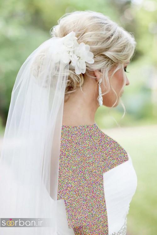 مدل مدل مو عروس با تور شیک و زیبا