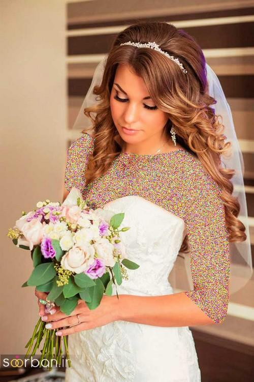 مدل مو عروس با تور شیک