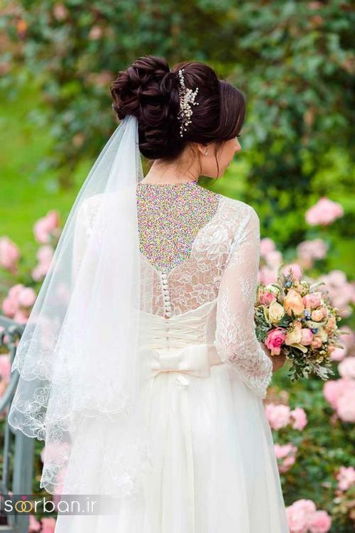 مدل مو عروس با تور شیک و خوشگل