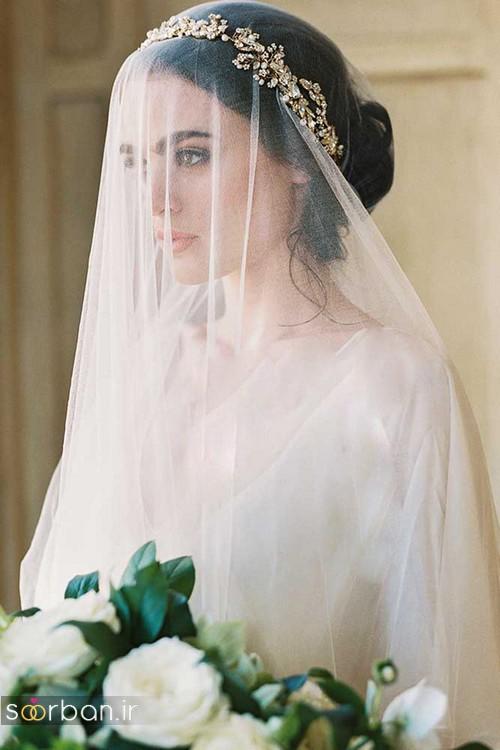 مدل مو عروس با تور شیک و شیک و زیبا