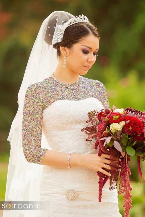 عکس مدل مو عروس با تور شیک و جدید