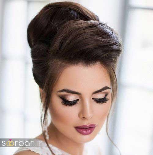 مدل مو عروس مشکی جدید و زیبا