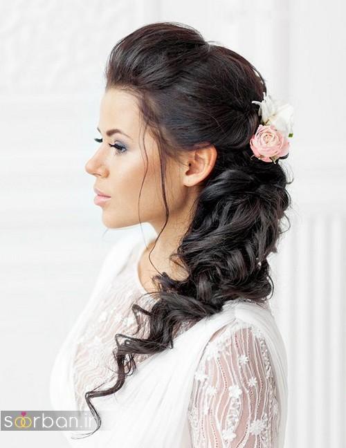 مدل مو عروس مشکی ساده و جدید 2020