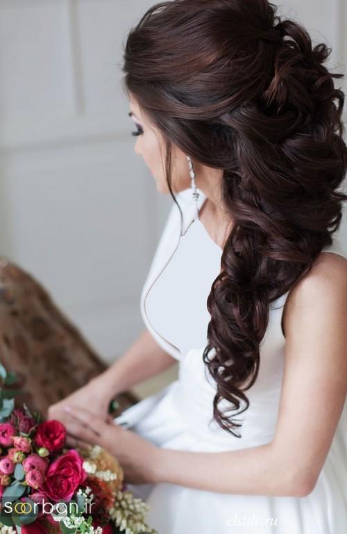 مدل مو عروس مشکی باز و بسته جدید