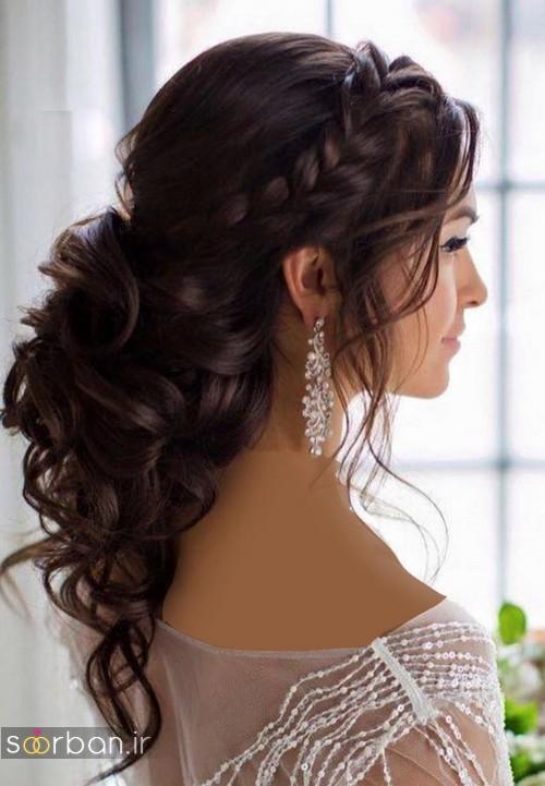 مدل مو عروس مشکی جدید باز و بسته 2020