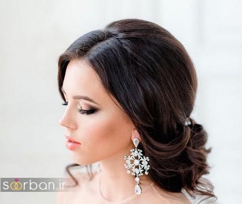 مدل مو عروس مشکی جدید شینیون 2020