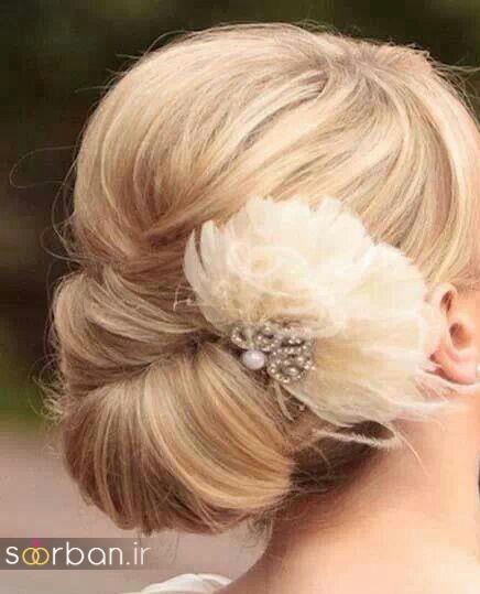 شینیون مو کوتاه عروس جدید 12