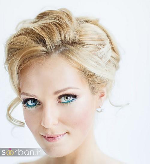 مدل مو کوتاه عروس با پوش
