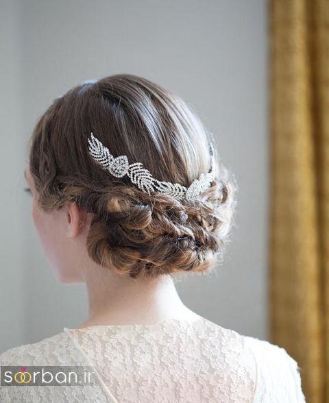 مدل مو بسته برای مو کوتاه عروس 2017