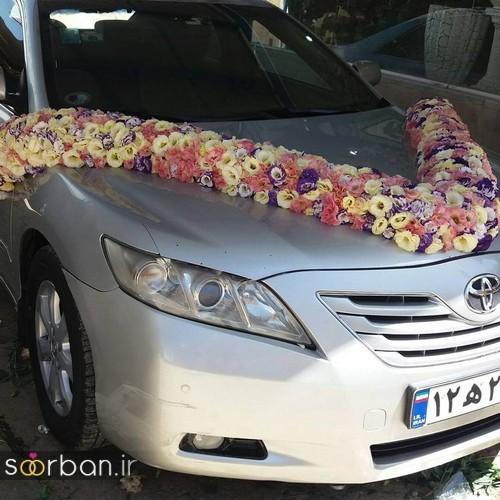 تزیین ماشین عروس | 30 مدل ماشین عروس شیک و جدید