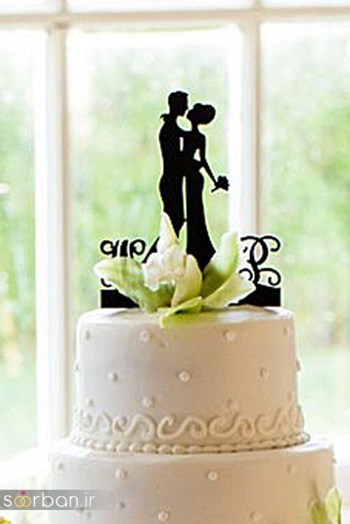 مجسمه عروس و داماد کیک عروسی1