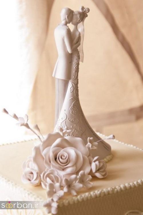 مجسمه عروس و داماد کیک عروسی5