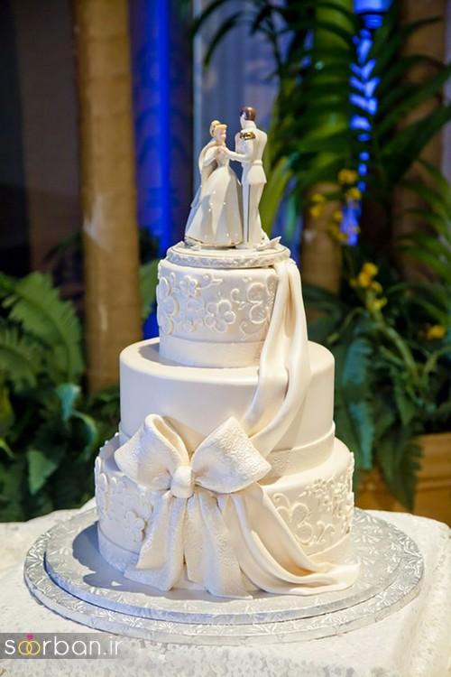 مجسمه عروس و داماد کیک عروسی6
