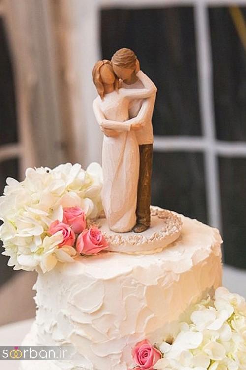 مجسمه عروس و داماد کیک عروسی