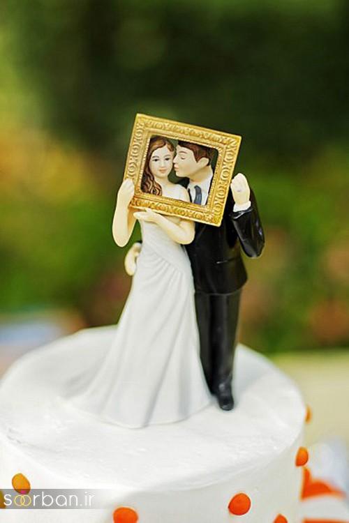 مجسمه عروس و داماد کیک عروسی10