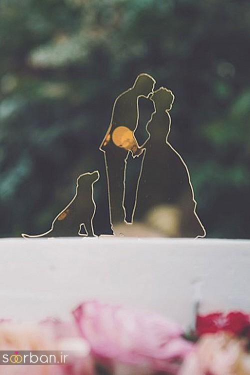 مجسمه عروس و داماد کیک عروسی11