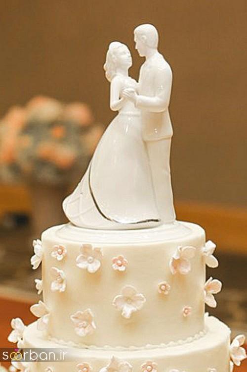 مجسمه عروس و داماد کیک عروسی12