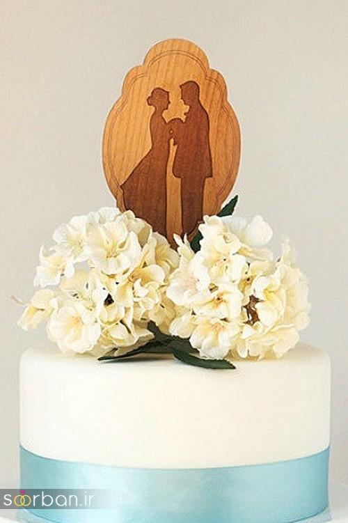 مجسمه عروس و داماد کیک عروسی13
