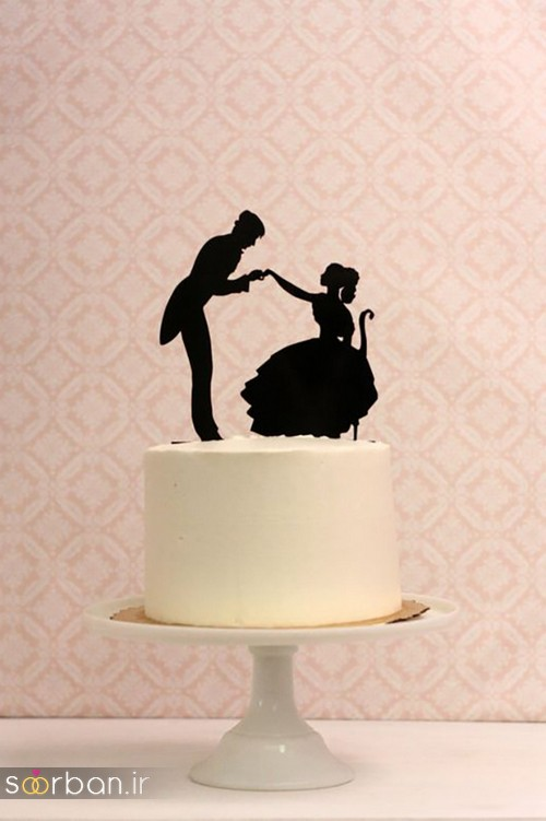 مجسمه عروس و داماد کیک عروسی15