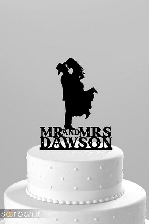 مجسمه عروس و داماد کیک عروسی16