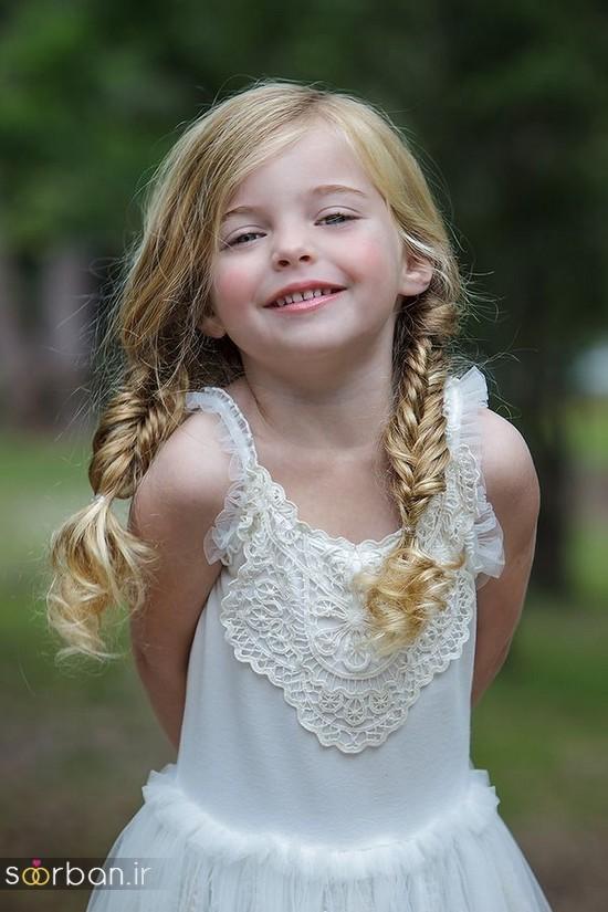 جدیدترین مدل مو بچه گانه دختر برای مجالس