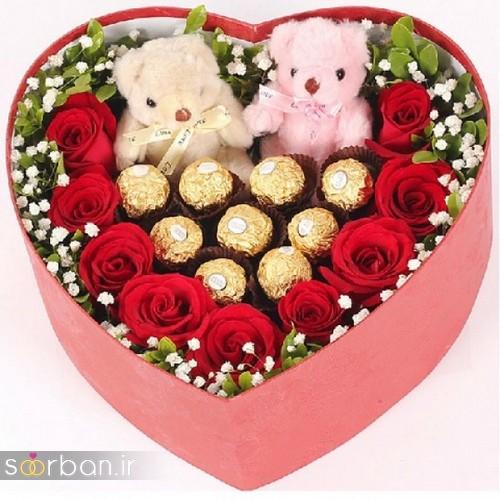 جعبه رز ولنتاین با شکلات