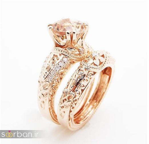 حلقه نامزدی رز گلد/ انگشتر عروس جدید رزگلد-1